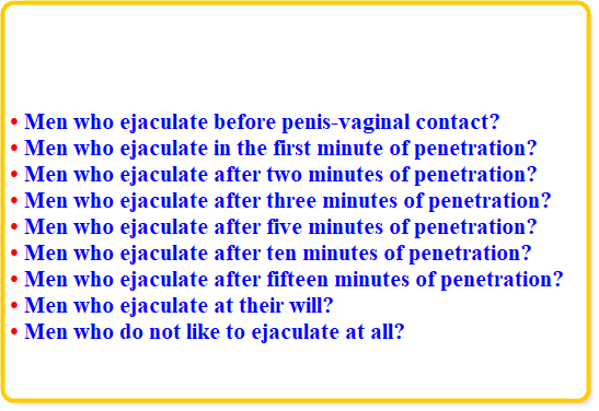 Share your Ejaculate right at penetration advise